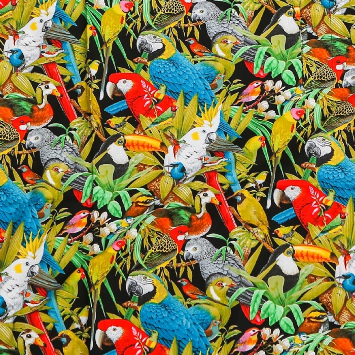 Jungle Birds Short Sleeve Scrub Top 100% Cotton