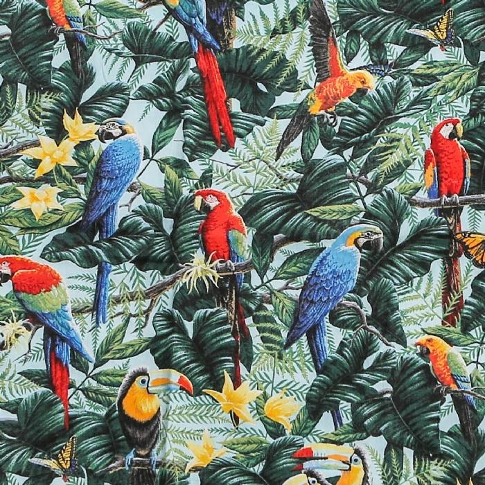 Parrot Paradise Short Sleeve Scrub Top 100% Cotton