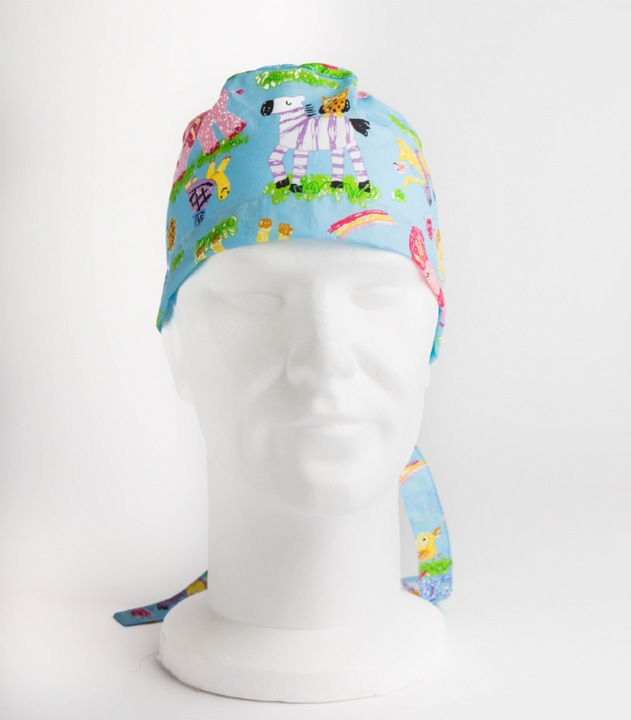 Nursery Animals Surgeons Hat 100% Cotton