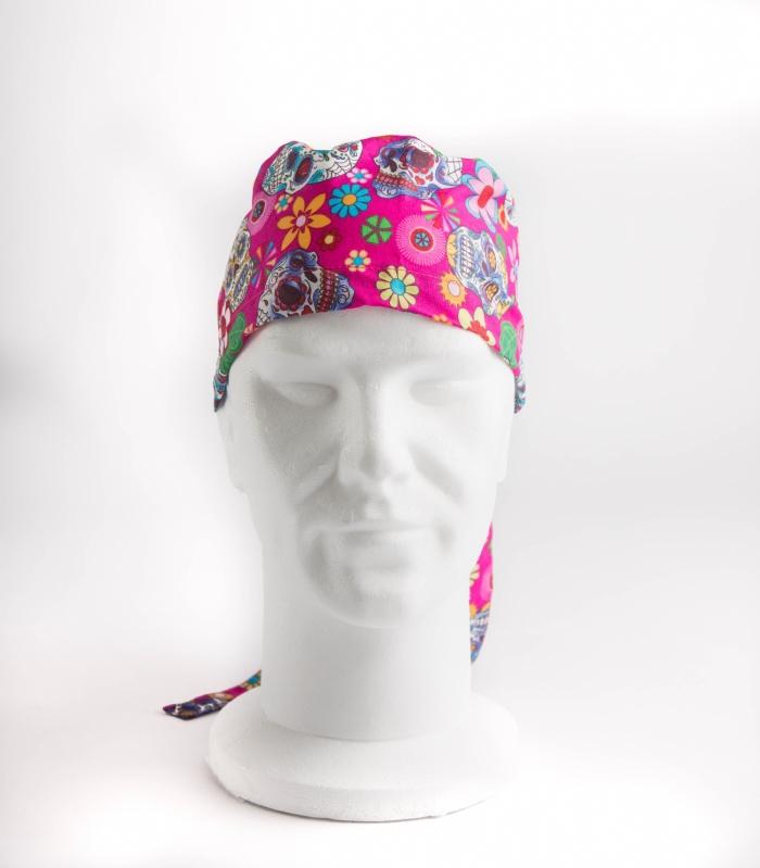 Pink Halloween Surgeons Hat 100% Cotton