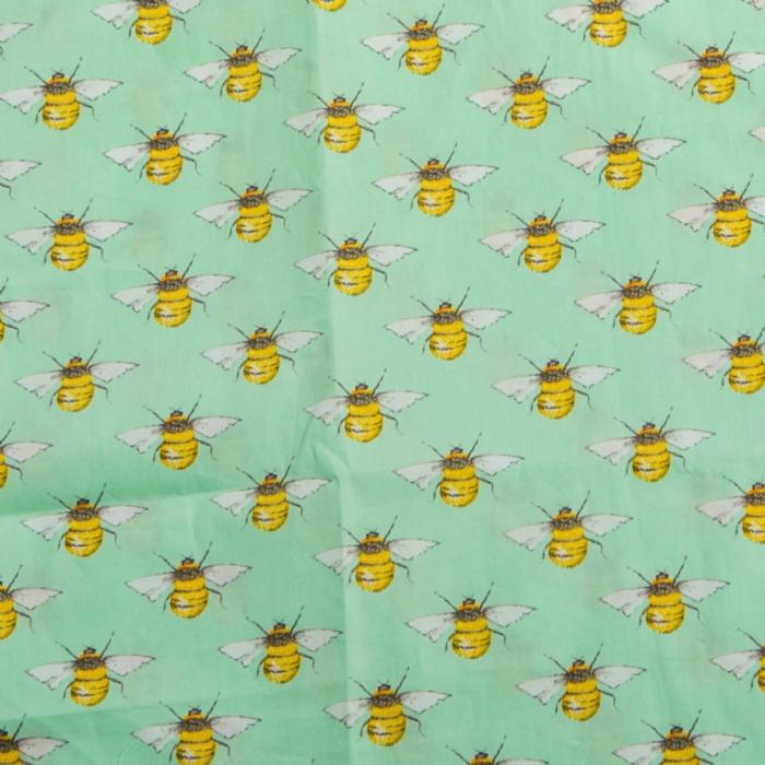 Bumble Bee Meadow Short Sleeve Scrub Top 100% Cotton