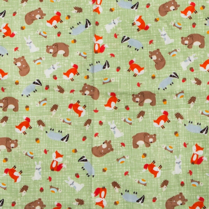 Forrest Animals Short Sleeve Scrub Top 100% Cotton