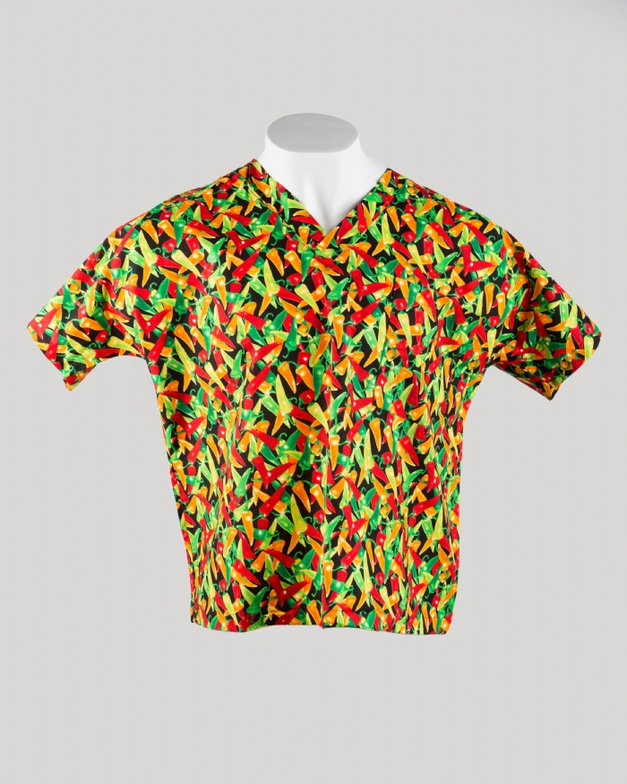 Peppers Short Sleeve Scrub Top 100% Cotton