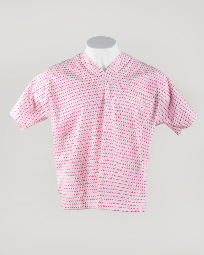 Pink Flamingo Short Sleeve Scrub Top 100% Cotton