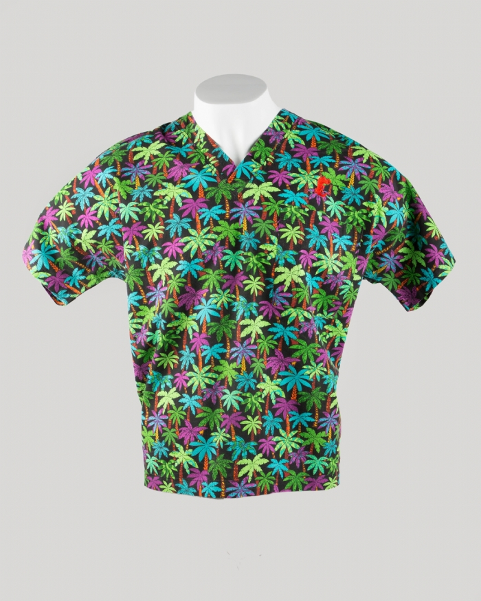 Jungle Short Sleeve Scrub Top 100% Cotton