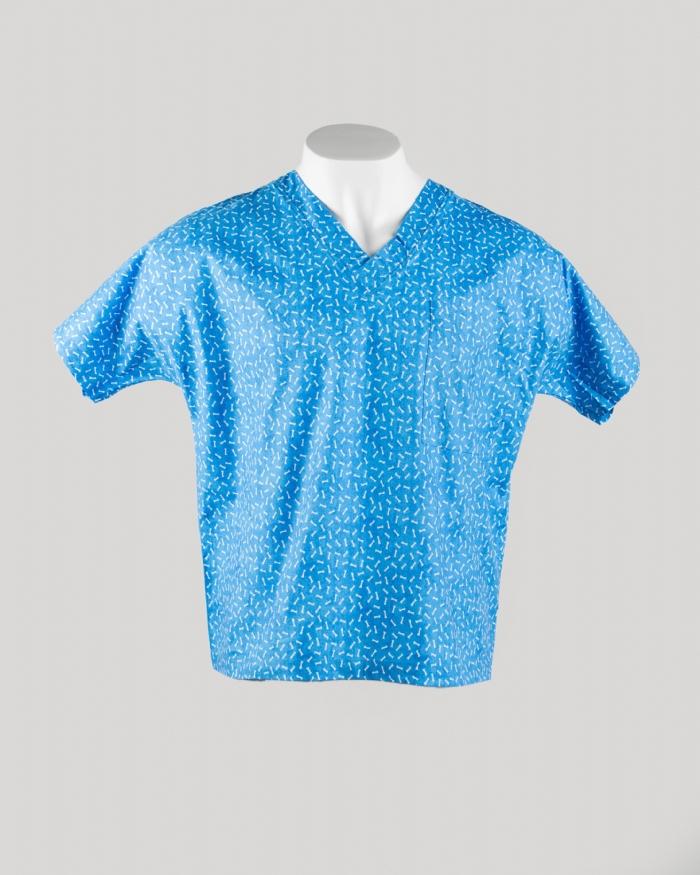 Blue Bones Short Sleeve Scrub Top 100% Cotton