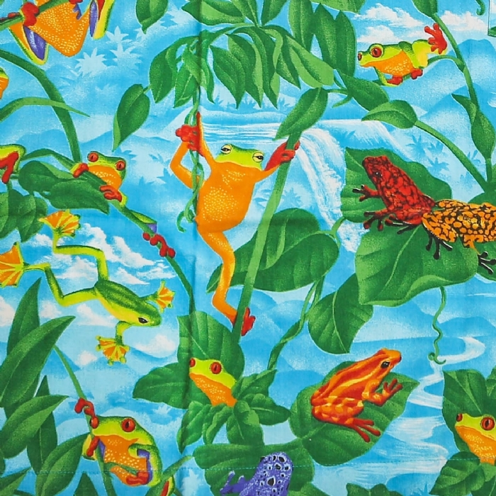 Frogs Short Sleeve Scrub Top 100% Cotton