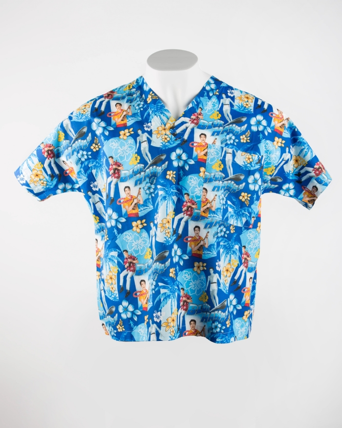 Elvis Short Sleeve Scrub Top 100% Cotton