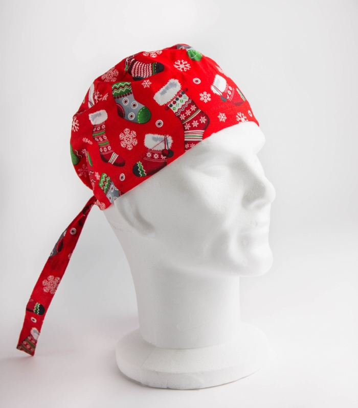 Christmas Stocking Surgeons Hat 100% Cotton
