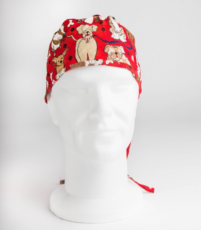 Red Dogs Surgeons Hat 100% Cotton