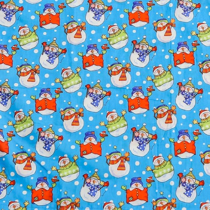 Christmas Snowman Surgeons Hat 100% Cotton