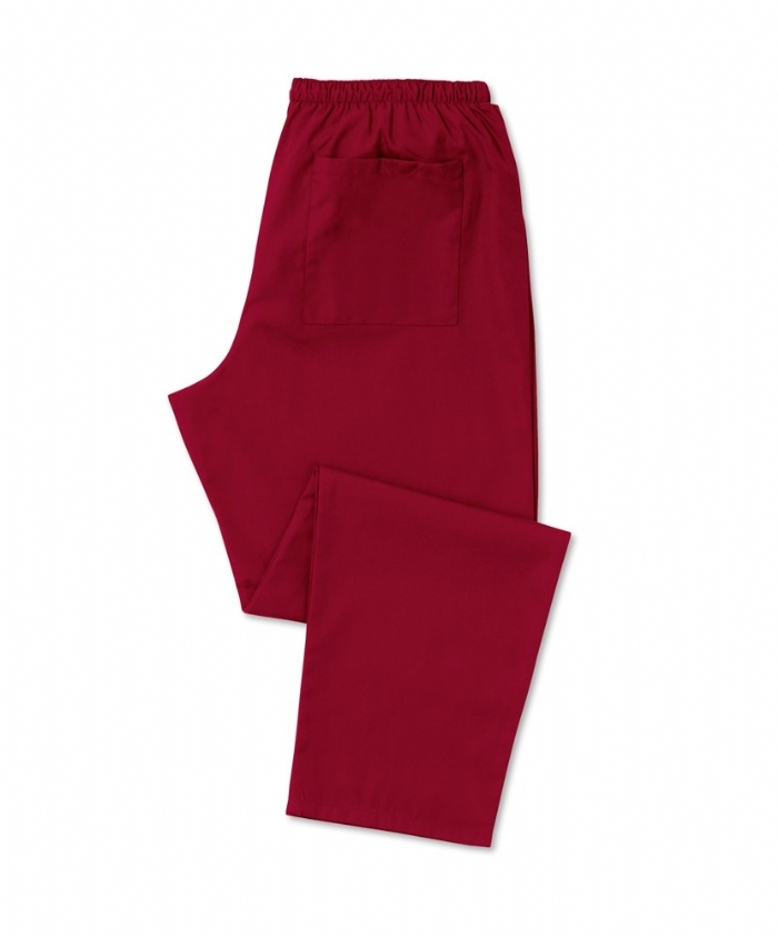 Burgundy Scrub Trousers 100% Cotton