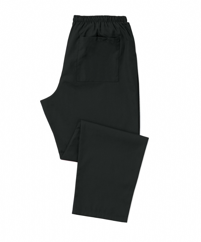 Black Scrub Trousers 100% Cotton