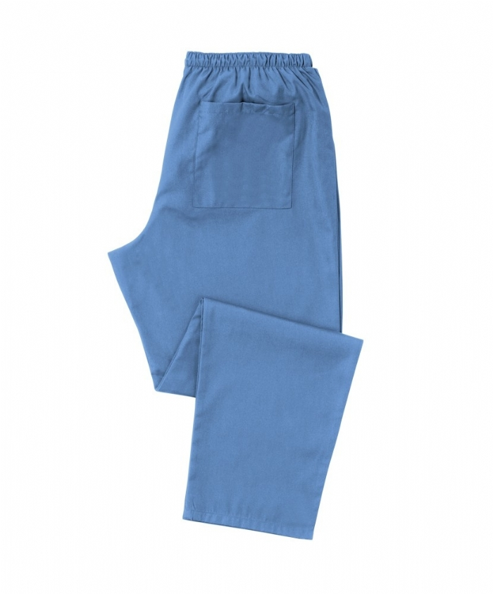 Light Blue Scrub Trousers 100% Cotton