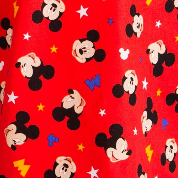 Disney Red Micky Mouse Short Sleeve Scrub Top 100% Cotton