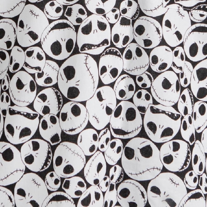 Disney The Nightmare Before Christmas Skulls Short Sleeve Scrub Top 100% Cotton