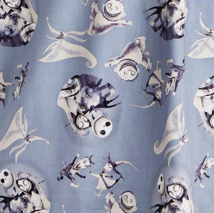 Disney The Nightmare Before Christmas Friends Short Sleeve Scrub Top 100% Cotton