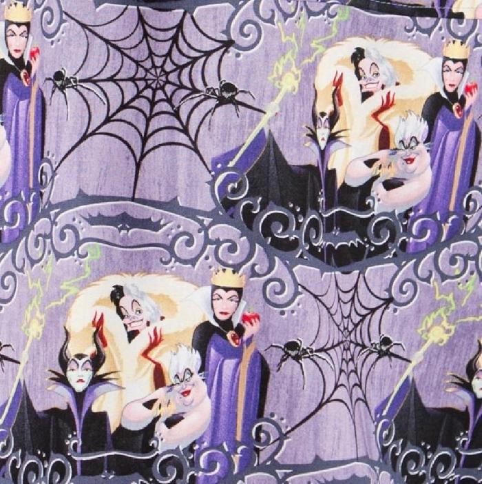 Disney Villains Short Sleeve Scrub Top 100% Cotton