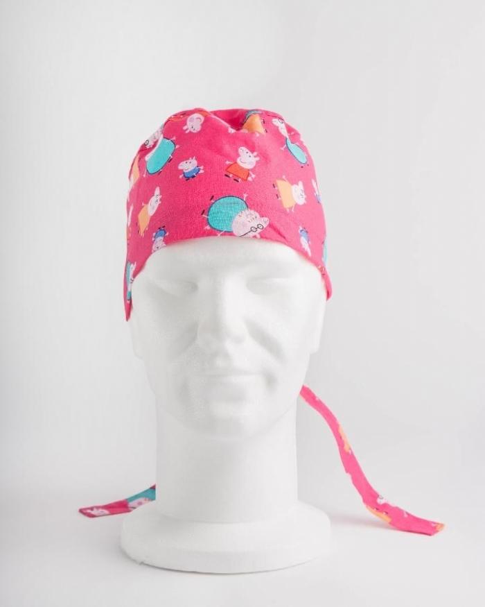 Pink Peppa Pig Surgeons Hat 100% Cotton