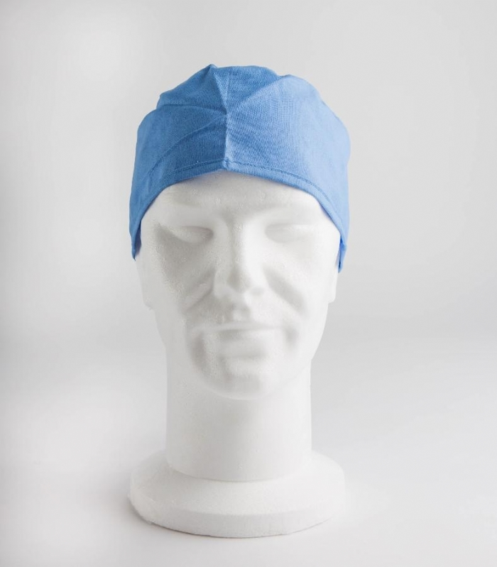 Light Blue Surgeons Hat 100% Cotton