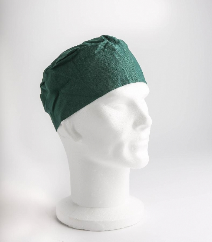 Dark Green Surgeons Hat 100% Cotton