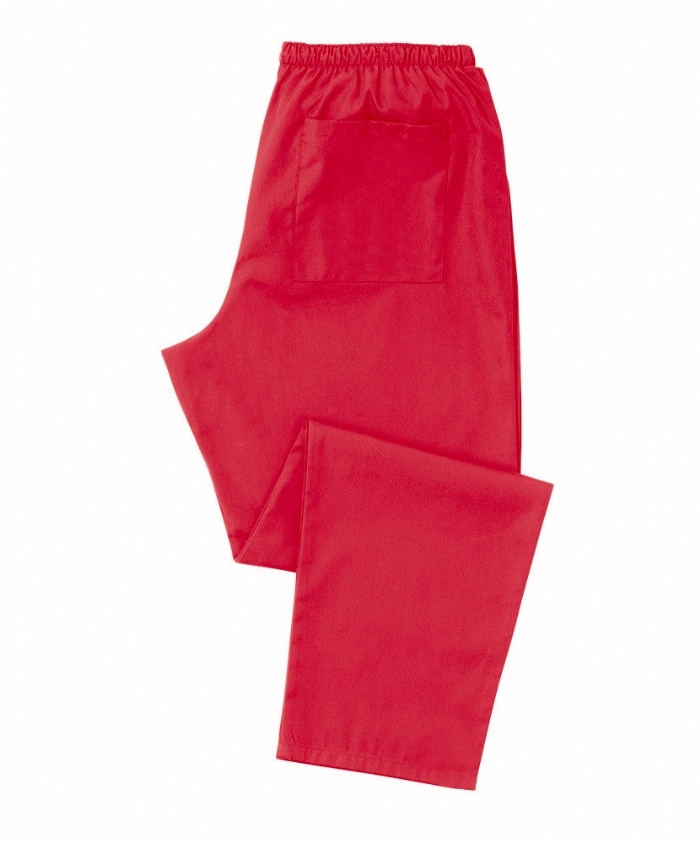 Red Scrub Trousers 100% Cotton