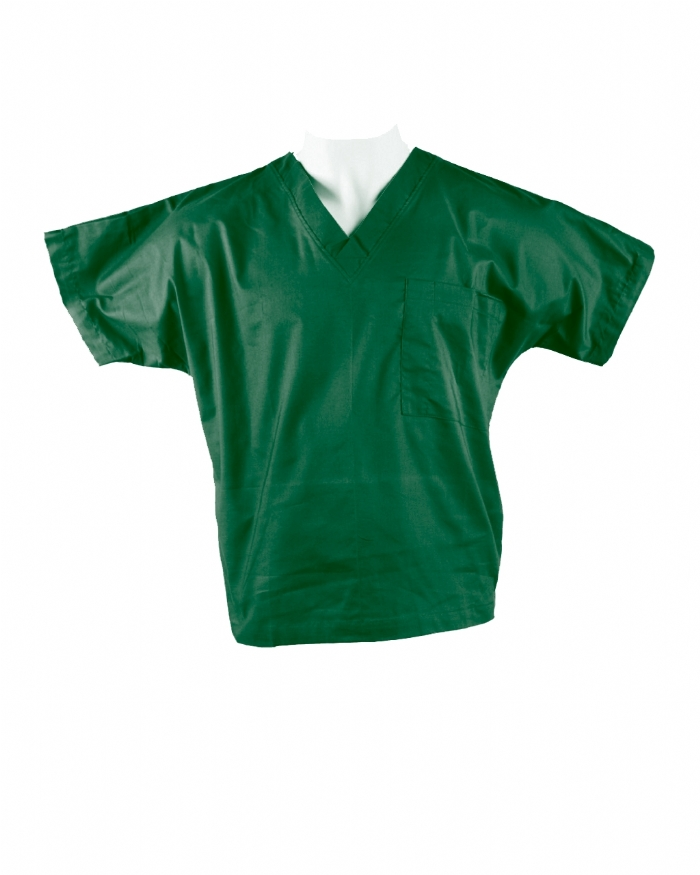 Emerald Short Sleeve Scrub Top 100% Cotton