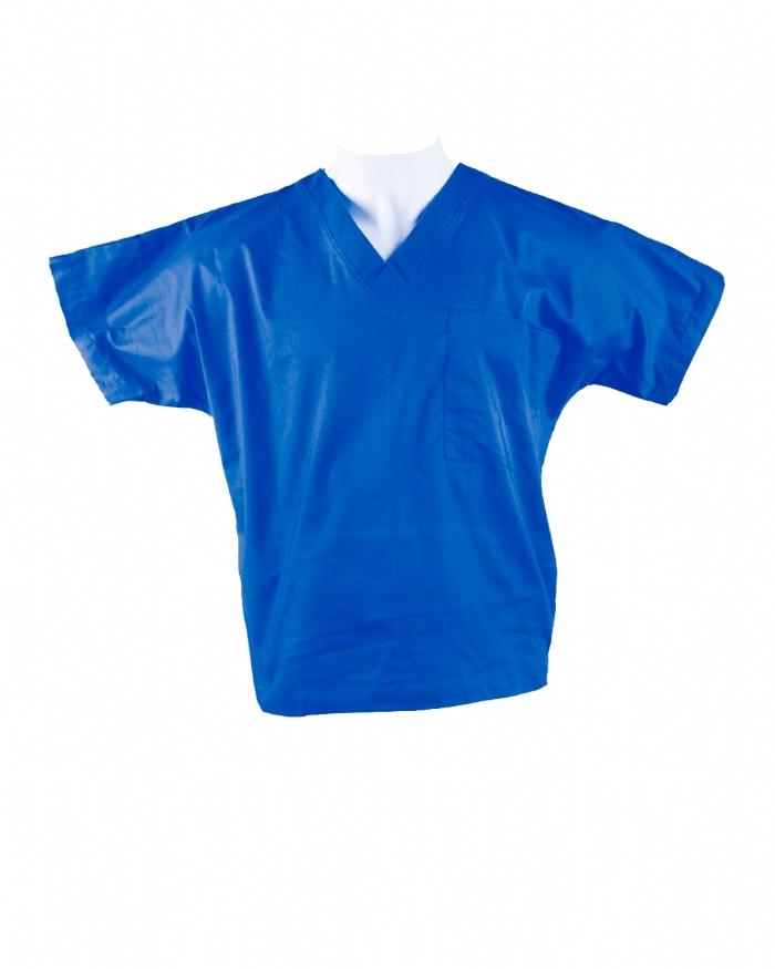 Royal Blue Short Sleeve Scrub Top 100% Cotton