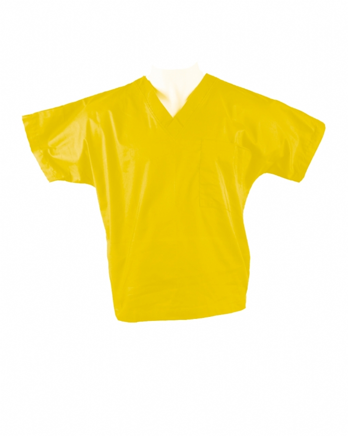 Yellow Short Sleeve Scrub Top 100% Cotton
