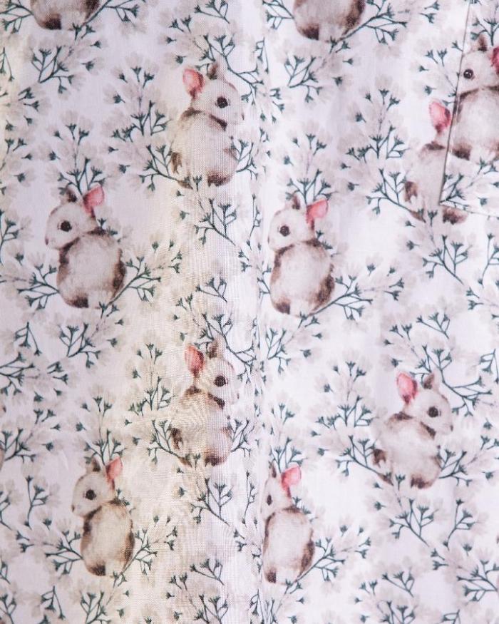 Baby Bunny Short Sleeve Scrub Top 100% Cotton