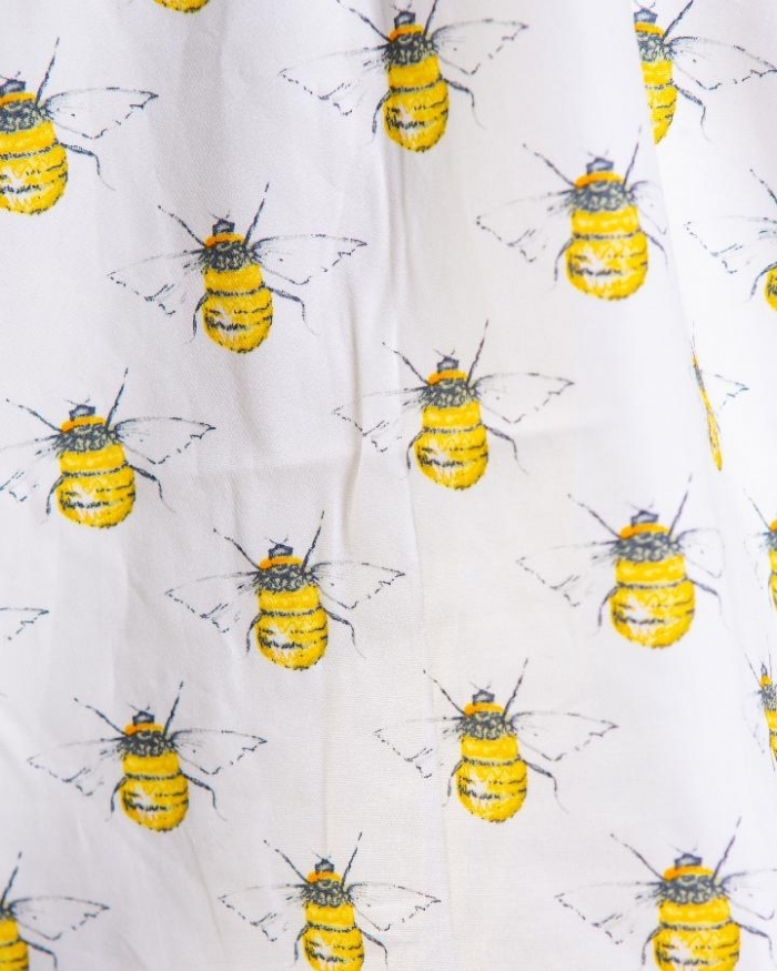 Bumble Bee Ivory Short Sleeve Scrub Top 100% Cotton