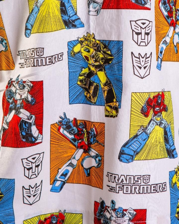Transformers Short Sleeve Scrub Top 100% Cotton
