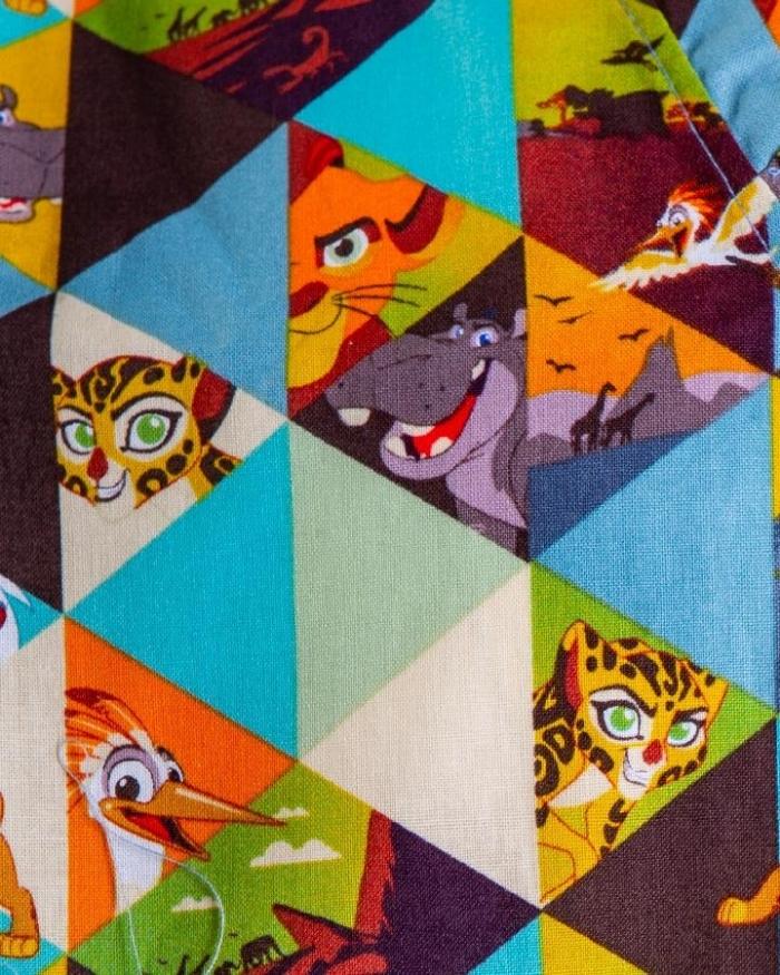 Disney Lion King Short Sleeve Scrub Top 100% Cotton