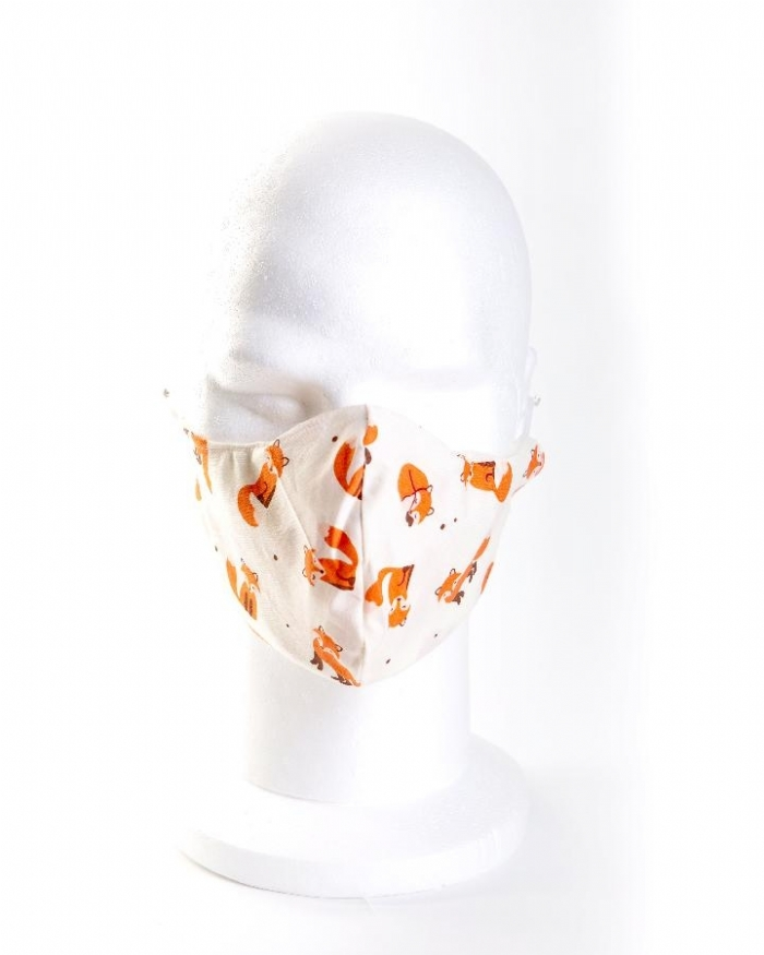 Funky fox 100% cotton face masks
