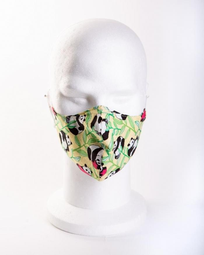 Loved up panda 100% cotton face masks