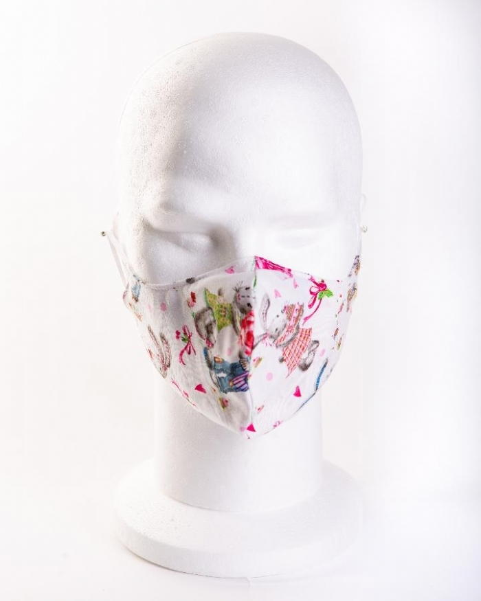 Loved up rabbits 100% cotton face masks