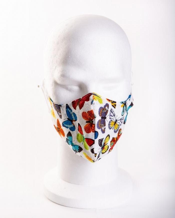 Multicoloured butterflies 11 100% cotton face masks