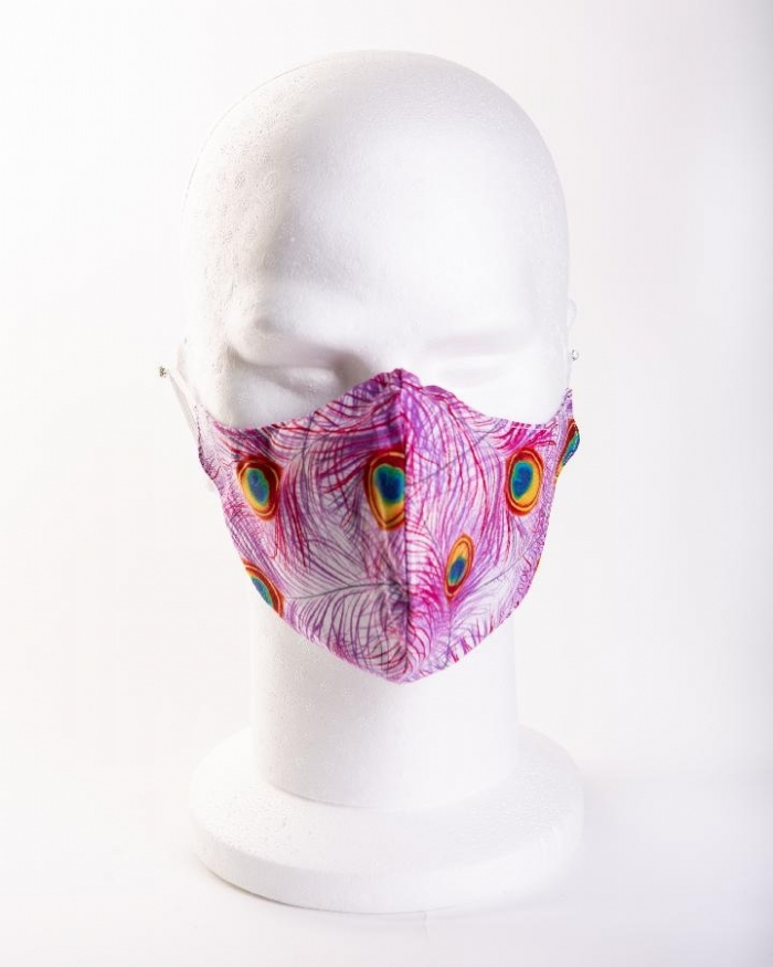 Peacock feathers 100% cotton face masks