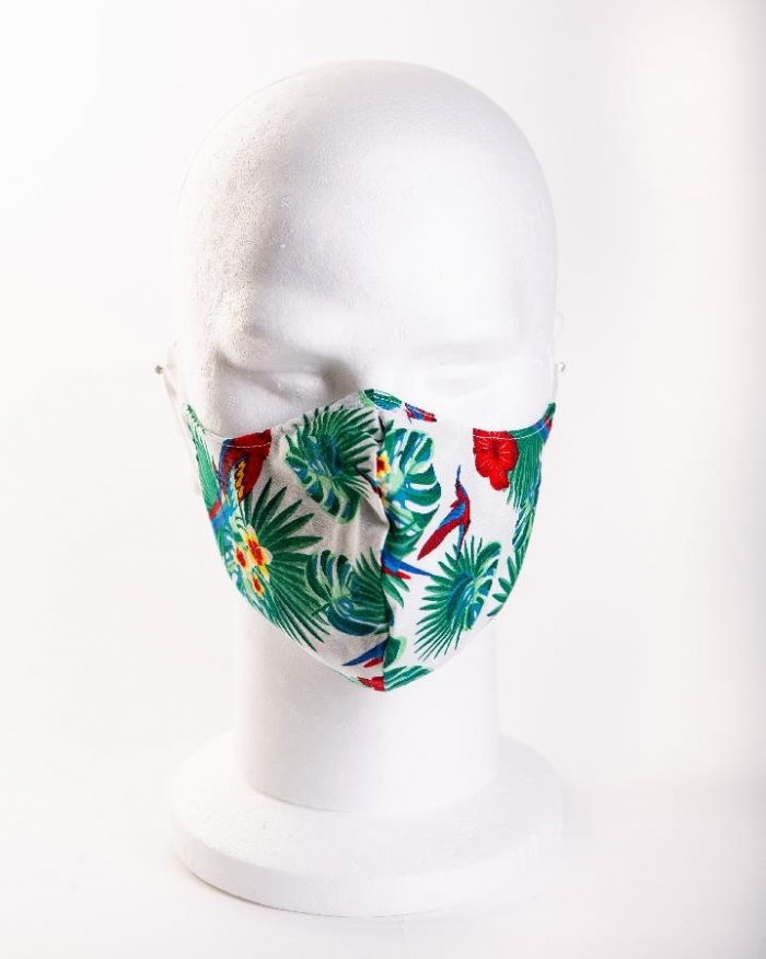 Rose and parrot 100% cotton face masks