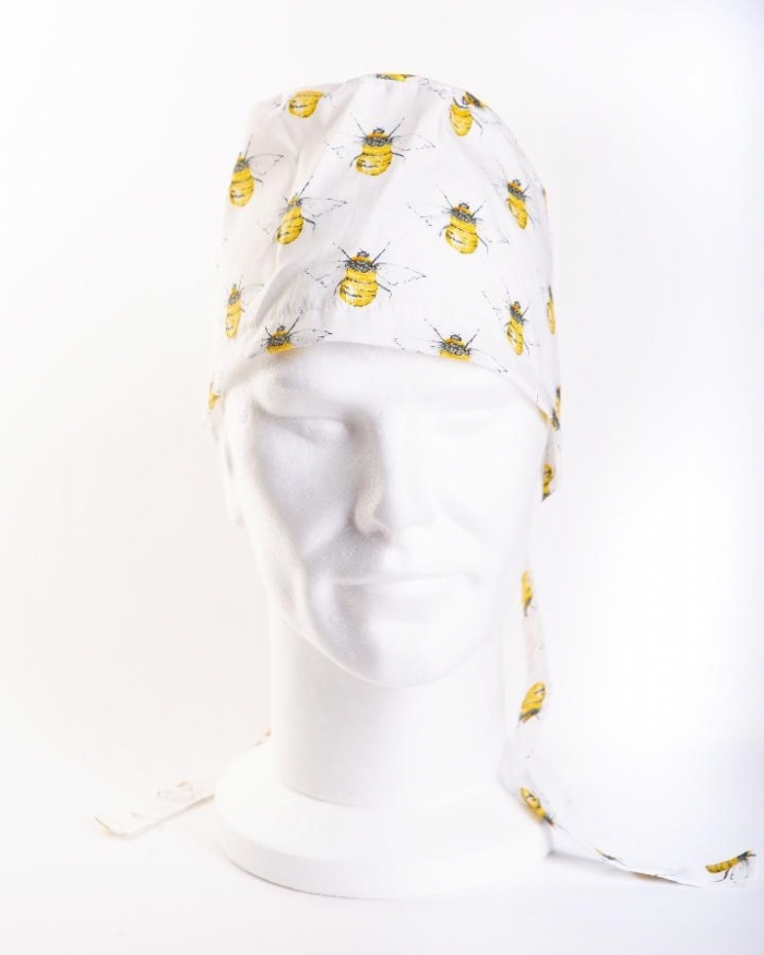 Bumble Bee Ivory Surgeons Hat 100% Cotton