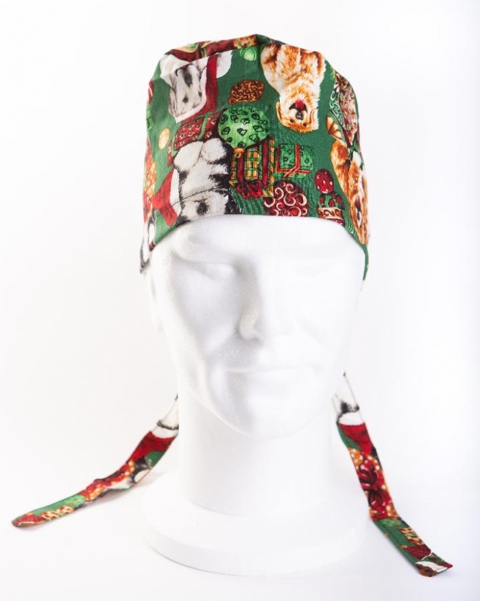 Christmas Dogs Surgeons Hat 100% Cotton
