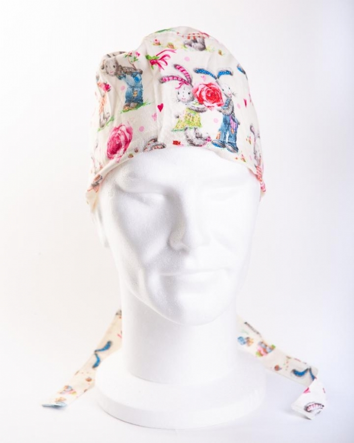 Loved Up Rabbits Hat 100% Cotton