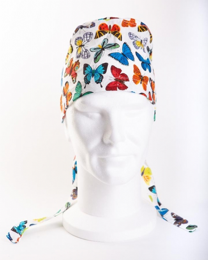 MultiColoured Butterflies 11 Hat 100% Cotton