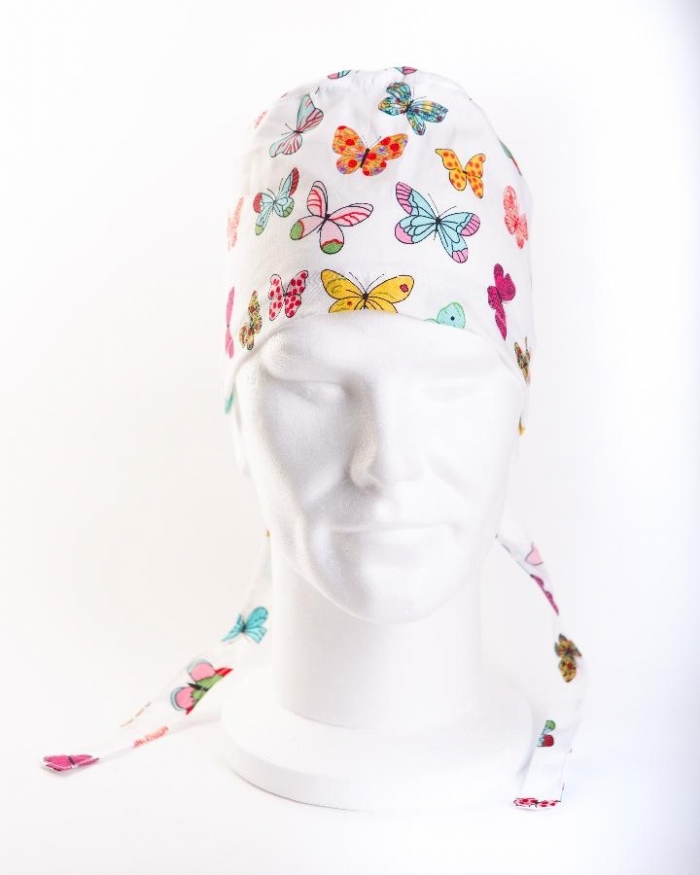 MultiColoured Butterflies 111 Hat 100% Cotton