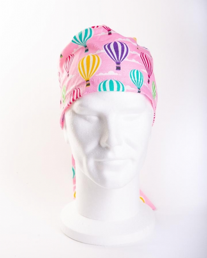 Pink Hot Air Balloons Hat 100% Cotton