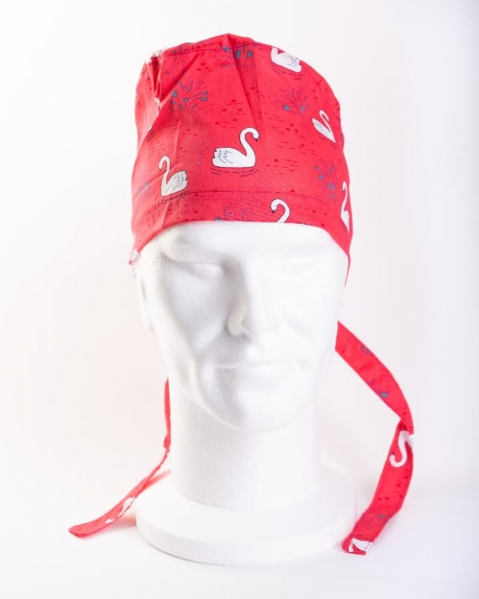 Red Majestic Swan Hat 100% Cotton