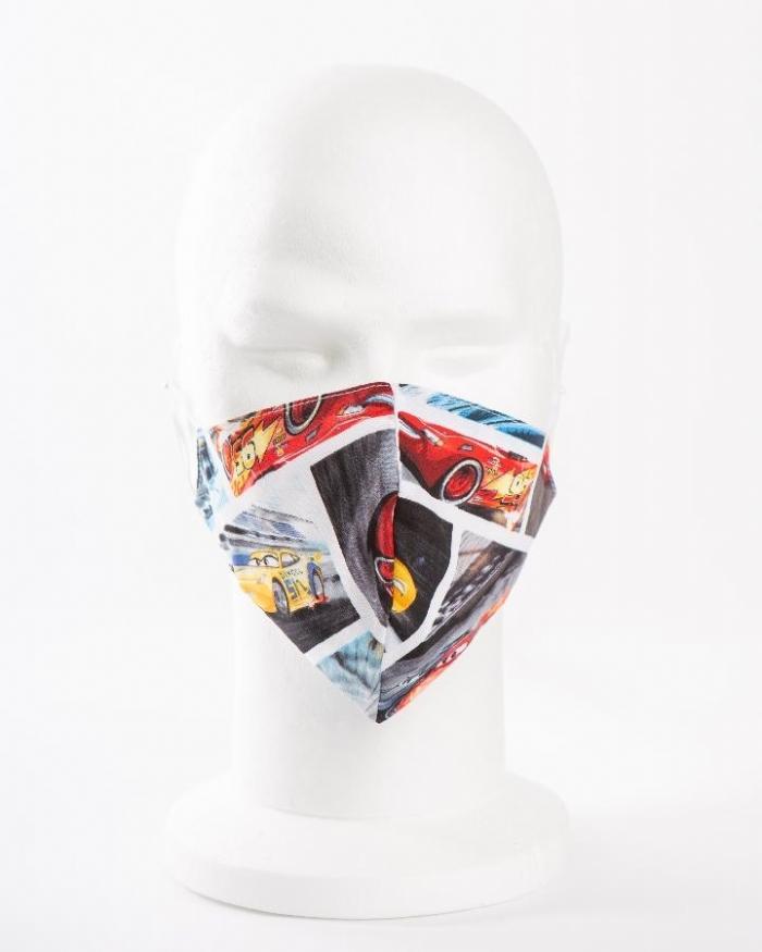 Disney cars 100% cotton face masks