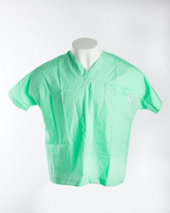 Mint Short Sleeve Scrub Top 100% Cotton