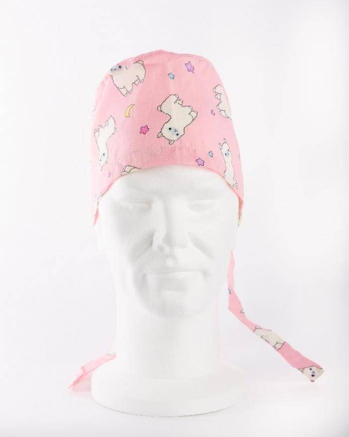 Pink Baby Lamb Surgeons Hat 100% Cotton