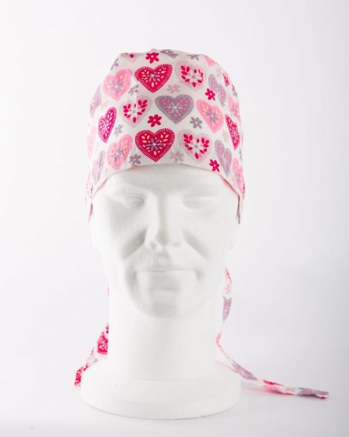 Summer Hearts Surgeons Hat 100% Cotton